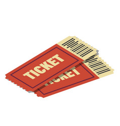 tickets with bar code to cinema theatre circus vector image