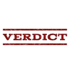 Verdict Watermark Stamp vector