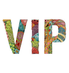 vip decorative zentangle object vector image