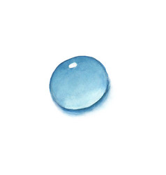 Watercolor water drop isolated vector