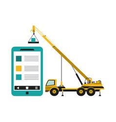 website under construction vector image