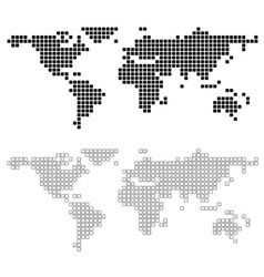 Dotted world map of square dots royalty free vector image abstract world map vector image gumiabroncs Image collections