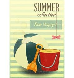 Beach toys Summer vector image