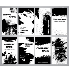 Collection vertical business grunge cards vector image vector image