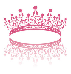 diadem elegance feminine tiara with reflection vector image
