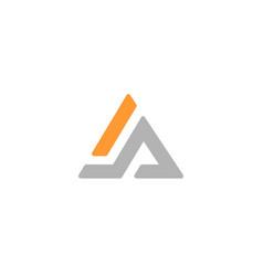 letter a logo alphabet icon set vector image vector image