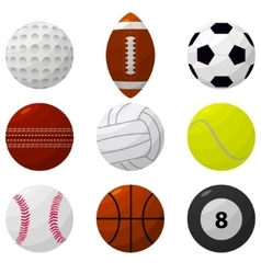 Sport Ball Set for Different Games vector image vector image