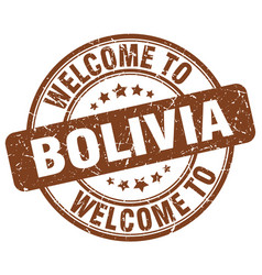 Welcome to bolivia vector