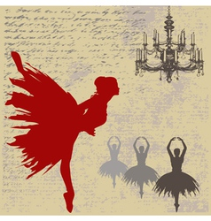 Ballerina background vector