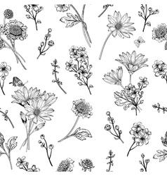 Beautiful vintage seamless pattern vector image vector image