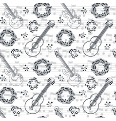 Music seamless pattern background vector image vector image