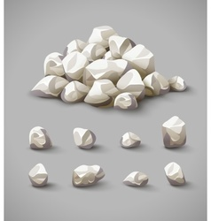 Set of rocks and stone pile vector image vector image