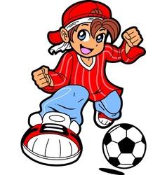 Anime Manga Soccer Player vector image vector image