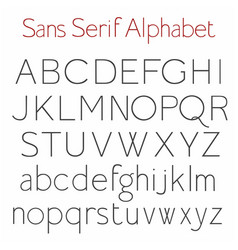 basic skeleton sans serif alphabet with uppercase vector image vector image
