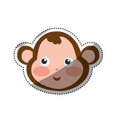Monkey cartoon drawing head vector