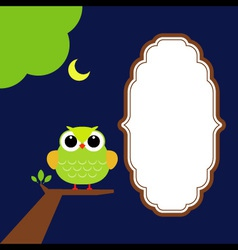 Night Owl with moon vector image