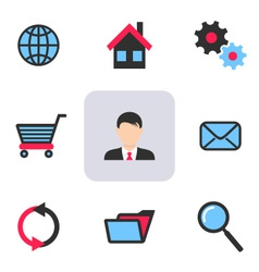 Office and web icons vector image