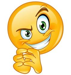 sneaky emoticon vector image vector image