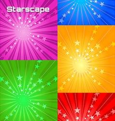 stars cape vector image