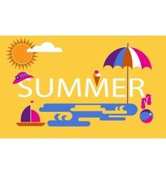 summer time seasonal vacation at the beach vector image vector image