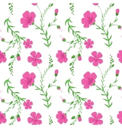 Abstract elegant seamless pattern with floral vector image vector image