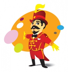 circus ringmaster vector image vector image