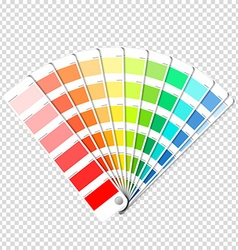 Color palette guide on transparent background vector image