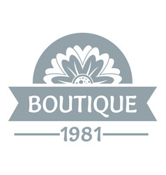 flower boutique logo simple gray style vector image