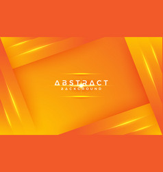abstract modern geometric orange background vector image
