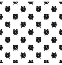 alarm clock pattern seamless vector image