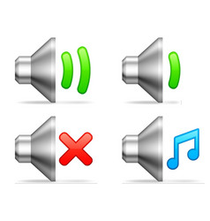 Audio volume icons vector image