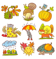 autumn season vector image