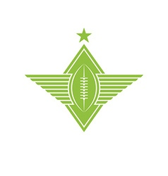 Ball with wings logo american football or rugby vector