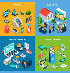 Banking isometric design concept vector
