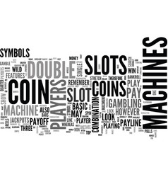 Basic slots features strategies text word cloud vector