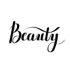 Beauty digital calligraphy vector