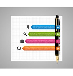 Business infographic design template Colored ink vector