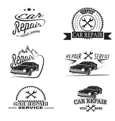 Car service and Repairing icon set vector