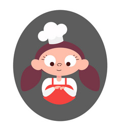 chief-cooker little girl cook vector image