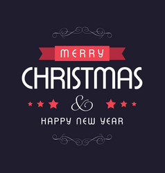 christmas card dark background vector image
