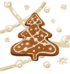 Christmas tree cookie vector