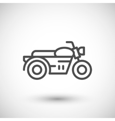 Classic motorcycle line icon vector image