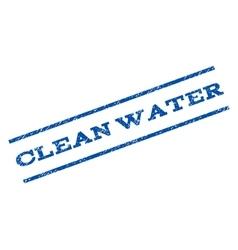 Clean Water Watermark Stamp vector