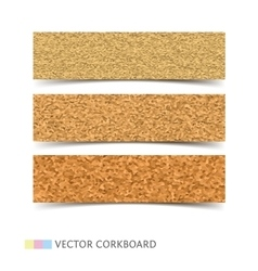 Cork board banners set vector image
