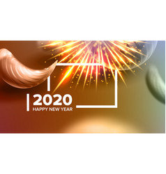 Creative annonce banner celebrating 2020 vector