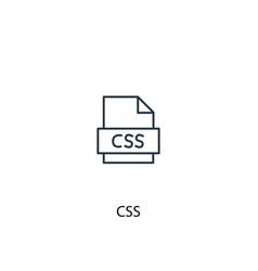 Css concept line icon simple element vector