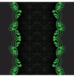 dark with green vector image