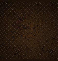 Diamond plate rusty distressed corroded realistic vector