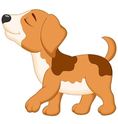 Dog cartoon walking vector