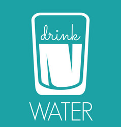 Drink water sign vector